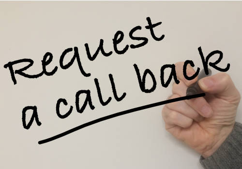 Request a call back and we'll get back to you ASAP